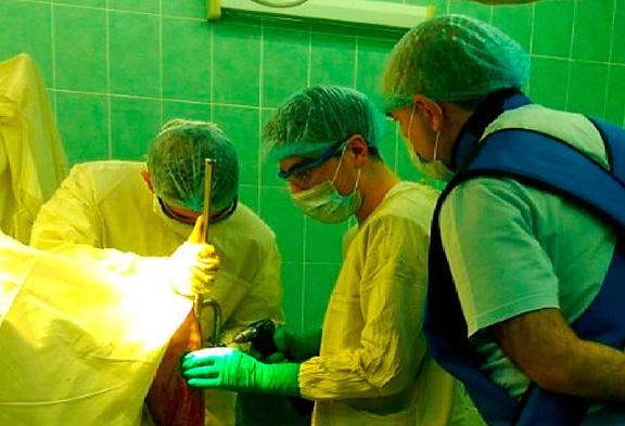 Хирургическая операция на голеностопе