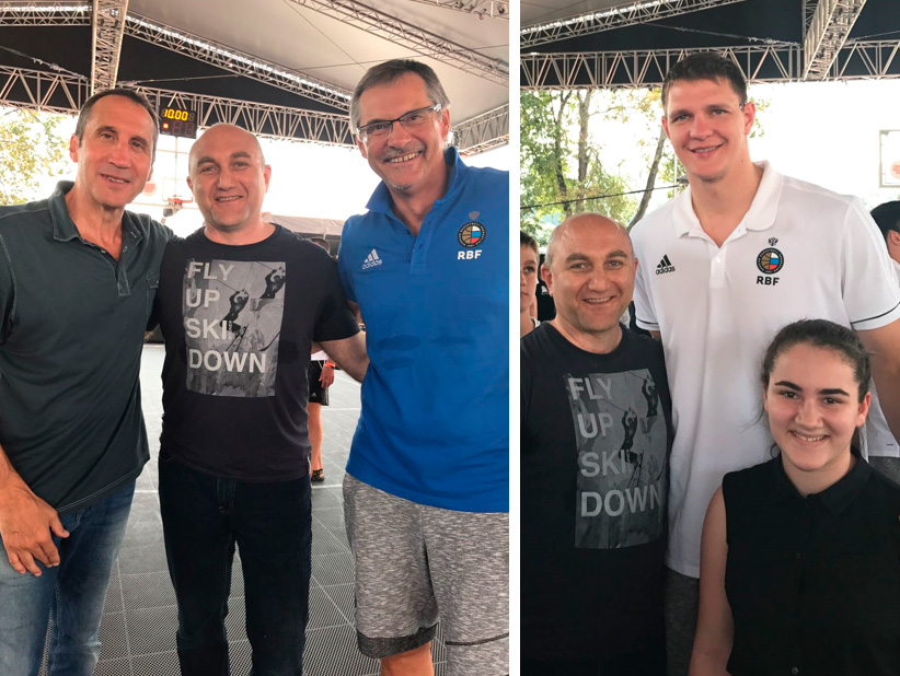 Артак Михайлович и игроки Сборной России по баскетболу
